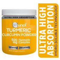 Turmeric Curcumin Unflavored Powder, Qunol High Absorption 500 mg, 80 Servings
