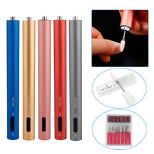 Rechargeable Electric Nail Drill Machine Portable Manicure Mini Nail Drill Pen