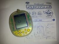 Bandai Keychain Mini Pac-Man Game Pac-Junior Namco 1996 *Transparent* *Used*