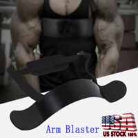 Heavy Duty Arm Blaster Body Building Bomber Bicep Isolator Curl Triceps Muscle