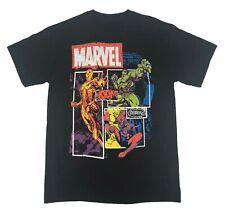Marvel Men's T Shirt Avengers Group Shot Hulk Spider Man Iron Man Graphic Tee