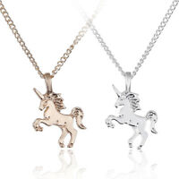 Women Unicorn Pendant Necklace Gold Clavicle Chains Silver Choker Jewelry Gift