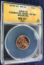 ** 2009 Lincoln Formative ANACS MS67 Extra Finger Doubled Die Error WDDR-051 **