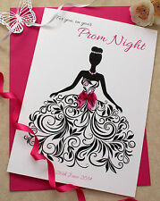 Personalised Card On your Prom Night / All Celebration Card / Pink Accents