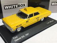 FORD GALAXIE 500 TAXI NEW YORK YELLOW CAB - WHITEBOX 1/43 NEUF