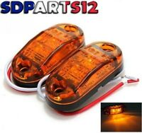 2 X 12v Smd 2 Led Orange Feux De Gabarit Camion Chassis Remorques E-Marque