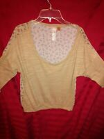 Eyeshadow Top Blouse Juniors Sz S Knit front/floral sheer Pretty