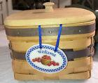 1997 Longaberger Royce Craft Basket Signed/dated oval Ceramic Tag