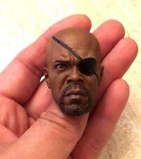 Custom Nick Fury Samuel L. Jackson The Avengers S.H.I.E.L.D. 1/6 HEAD ONLY