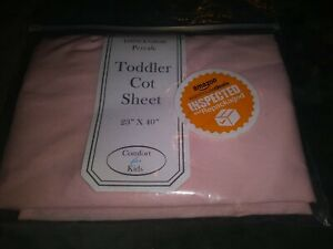 "American Baby Company Comfort for Kids Toddler Day Care Cot Sheet 23"" x 40"" Pink"