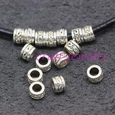 Tibetan Silver spacer Beads Fit DIY Charm Bracelet 100-1000pcs 5x3mm hole 3mm