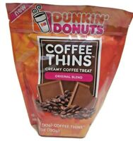 Dunkin' Donuts Coffee Thins Original 4.2oz, 12  Individually Wrapped Pieces