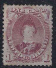 r108)  Canada-Newfoundland . 1868. MM  SG 35 1c Brown-purple.Type II. c£130+