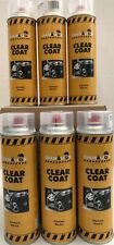 6 x Clear Coat High Gloss UV Resistant Aerosol Can 500ml 16oz Made in Germany