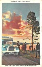 Cleveland Oh Eastern Greyhound Lines Bus New York to Los Angeles Postcard