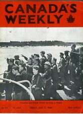 CANADA'S WEEKLY July 7 1944 WW2 Canadian Troops Roll of Honour RCAF Navy MAG