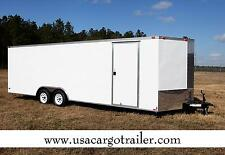 8.5x20 Enclosed Cargo Trailer V NOSE 22 Utility Car Hauler 8 Motorcycle Box 2017