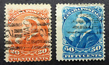 CANADA #46-7  HIGH VALUE SMALL QUEEN F/VF USED CAT.$120