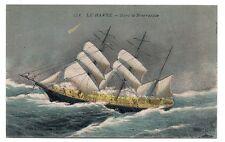 Le Havre   dans la bourrasque  ,trois mats