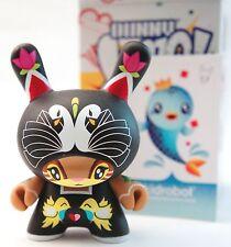 """Kidrobot Dunny 3"""" 2010 Sneaky Raccoon Swans Birds Art Toy Designer Vinyl Pop"""
