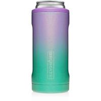 Brumate Hopsulator Slim Can Cooler Tumbler 12 oz Drink Holder Glitter Mermaid
