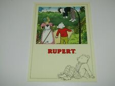 1992 UNPOSTED POSTCARD - Rupert the Bear and the Wonderful Kite Bill Badger