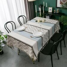 Rectangle Flannel Jacquard Tablecloth Dining Tea Wedding Party Table Cloth Decor