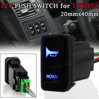 12V Laser Push Switch Blue LED LIGHTS HORN For Toyota 4Runner Highlander Tacoma