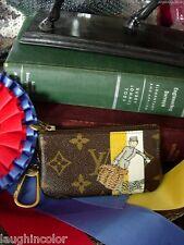 Rare LOUIS VUITTON Groom Key Ring Coin CLESS Wallet Handbag Accessory Case LV