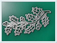 Holly Leaf & Berry's Metal Cutting Die,Stencil,Craft,Card Making,Scrapbooking