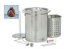 Bayou Turkey Fryer Pot, Classic 1118 32 Quart Stainless Steel