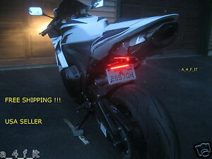 Motorcycle LED Rear Brake/License Plate/Turn Signal Integrated Tail Light US .