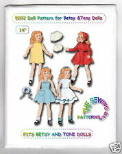 "Toni & Betsy & similar Dolls Fits - Doll Wardrobe Pattern 14"" Vintage"