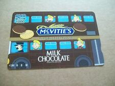 MCVITIES MILK CHOCOLATE BISCUITS BUS ON USED PREPAID CARD  FROM JAPAN (31ST MAY)