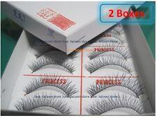 2 Box-New Original PRINCESS LEE Handmade False Fake Eyelash- X7 Black (10 Pairs)