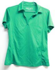 Women's Lady Hagen Short Sleeve Collared Shirt Green Hydro Dri Small