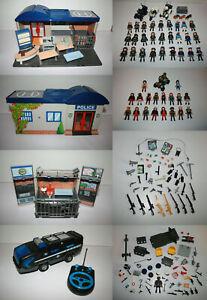 Grosses Playmobil Polizei Set --- 5299 + 5421 + 5564 + 4856 + 50 Figuren etc.