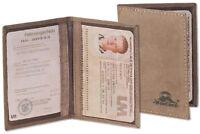 Woodland® Ausweishülle / Ausweisetui / Ausweismappe - Büffelleder in Dunkelbraun