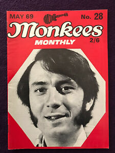 Original MONKEES MONTHLY Magazine No.28 May 1969 Rare Late Issue  (USA BEATLES)