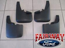 11 thru 16 Super Duty F250 F350 OEM Ford Splash Guard Mud Flaps w/ Lips 4pc Set