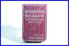 """kleines Notiz Buch Werbegeschenk """" Neger Garn""""  Bleistift / 1920's notebook"""