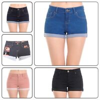 Plus Size Wax Women's  Denim Shorts Push-up Short Pants  (1XL-3XL)