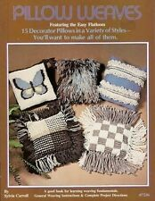 Pillow Weaves Easy Flatloom Technique Sylvia Carroll Vintage Pattern Book New