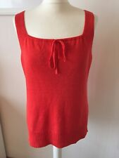 Eileen Fisher Petite Red 100% Linen Knit Top Size PS Worn Once