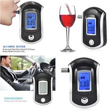 Advance Police Digital Breath Alcohol Tester LCD Breathalyzer Detector Analyzer
