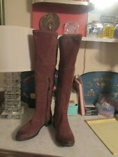 Free People x Miz Mooz Tracey Bently Tall Brown Suede Flat Boots Size 40