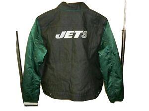 LEVIS NFL Jacket XXL Women New York JETS Football Denim Stadium Snap Up Trucker