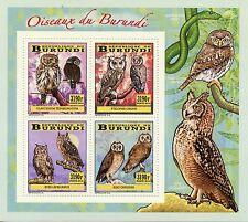 More details for burundi 2014 mnh birds of burundi owls 4v deluxe m/s owlet marsh owl