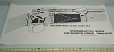 Winchester Model 70 Bolt Action Shotgun Cut-A-Way Advertising Poster