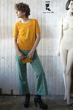 Damenhose Schlaghose 40 mintgrün gemustert 70er TRUE VINTAGE 70s Hipster pants